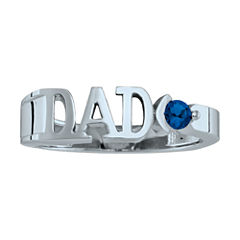 Personalized Men's Birthstone Dad Ring