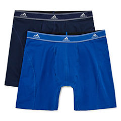 adidas® 2-pk. Relaxed Performance Cotton Stretch climalite® Boxer Briefs
