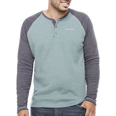 Columbia Long Sleeve Henley Shirt-Big and Tall