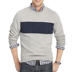 IZOD Striped Crewneck Fleece Pullover