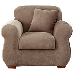 SURE FIT® Stretch Piqué 3-pc. Chair Slipcover