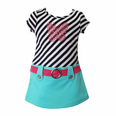 Lilt Short Sleeve Dress Set - Toddler Girls
