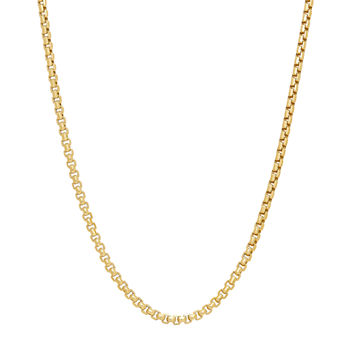 Made In Italy 14k Gold 22 Inch Hollow Box Chain Necklace
