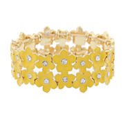 Liz Claiborne Womens Stretch Bracelet Yellow Goldtone