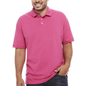 The Foundry Supply Co. Short Sleeve Solid Pique Polo Shirt Big and Tall