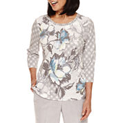 Alfred Dunner Northern Lights 3/4 Sleeve Top