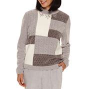 Alfred Dunner Northern Lights Long Sleeve Crew Neck Pullover Sweater
