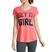 Xersion Short Sleeve Scoop Neck Graphic T-Shirt