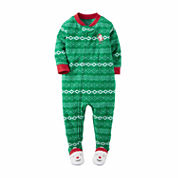 Carter's Boys Long Sleeve Footed Pajamas-Toddler