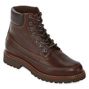 St. John`s Bay Mens Scenic Leather Lace Up Boots