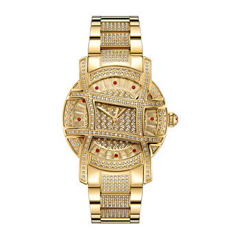 Jbw Olympia 2 12 Ct Tw Genuine Diamond Womens Accent Gold Tone Stainless Steel Bracelet Watch ps510a