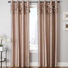 Lazio Faux-Silk Grommet-Top Curtain Panel
