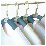Luxury Living Bumps Be-Gone Blue Hangers 12-Pack