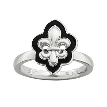 Personally Stackable Fleur de lis Ring