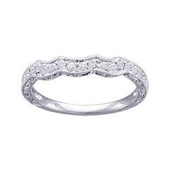 Modern Bride® Signature 1/4 CT. T.W. Diamond 14K White Gold Wedding Band