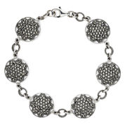 Pavé Marcasite Floral Sterling Silver Bracelet
