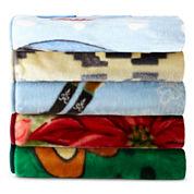 Hi-Pile Impact Print Raschel-Knit Oversized Throw