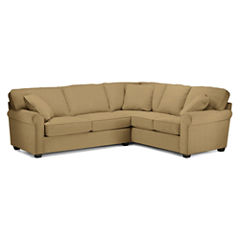Fabric Possibilities Roll-Arm 2-pc. Left-Arm Sleeper Sofa Sectional