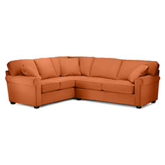 Fabric Possibilities Roll-Arm 2-pc. Right-Arm Sleeper Sofa Sectional