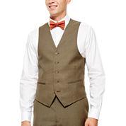 IZOD® Light Brown Sharkskin Suit Vest - Classic Fit