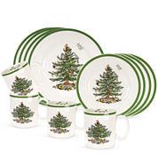Spode® Christmas Tree 12-pc. Dinnerware and Mug Set