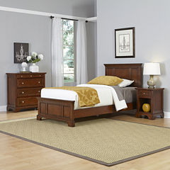 Newport Twin Bed, Nightstand and Chest