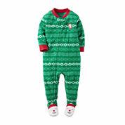 Carter's Boys Long Sleeve Footed Pajamas-Toddler
