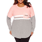 Flirtitude Long Sleeve T-Shirt-Juniors Plus