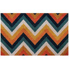 Better Trends Chevron Printed Rectangle Doormat - 18