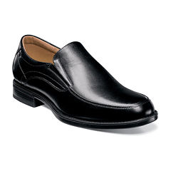 Florsheim® Center Mens Leather Moc-Toe Slip-On Dress Shoes