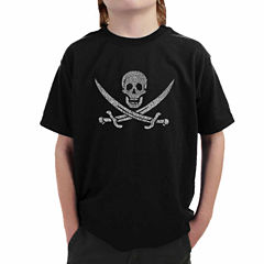 Los Angeles Pop Art A Legendary Pirate Song Graphic T-Shirt-Big Kid Boys