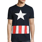 Short Sleeve Captain America Graphic T-Shirt