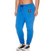 Flirtitude Fleece Jogger Pants- Juniors Plus