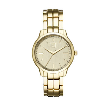 Liz Claiborne Womens Gold Tone Bracelet Watch lc1368t