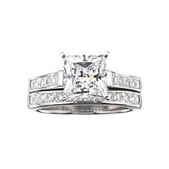 diamonart cubic zirconia 3 34 ct tw bridal ring set - Jcpenney Wedding Rings