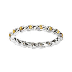 Personally Stackable Genuine Citrine Twisted Eternity Ring