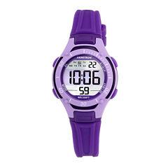 Armitron® Pro-Sport Womens Purple Resin Strap Chronograph Sport Watch 45/7062PUR