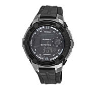 Armitron® Pro-Sport Mens Black Resin Strap Chronograph Sport Watch 40/8350BLKJ