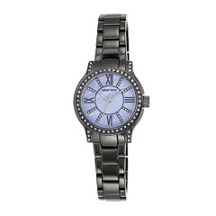 Armitron® Womens Crystal-Accent Gunmetal Bracelet Watch 75/5372BKGPBK
