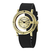 Stuhrling® Original Mens Black Rubber Strap Watch