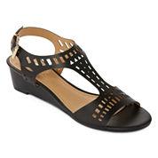 Diba® London Journey Laser-Cut Wedge Sandals