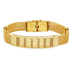 Mens 18K Stainless Steel Id Bracelet