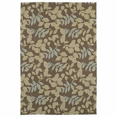 Kaleen Home And Porch Leaves Hand Tufted Rectangular Rugs