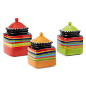Gibson Pueblo Springs 3-pc. Canister