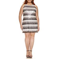 Worthington® Sleeveless Sheath Sequin Dress - Plus