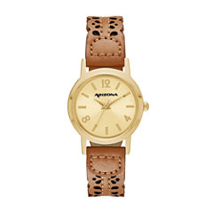 Arizona Womens Brown Strap Watch-Fmdarz144