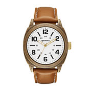 Arizona Mens Brown Strap Watch-Fmdarz534