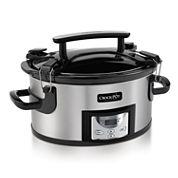 6 qt. Single Handed Portable Crock Pot Cooker