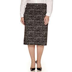 Worthington® Split Back Knit Pencil Skirt - Plus