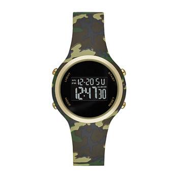 Opp Womens Digital Green Strap Watch fmdjo169